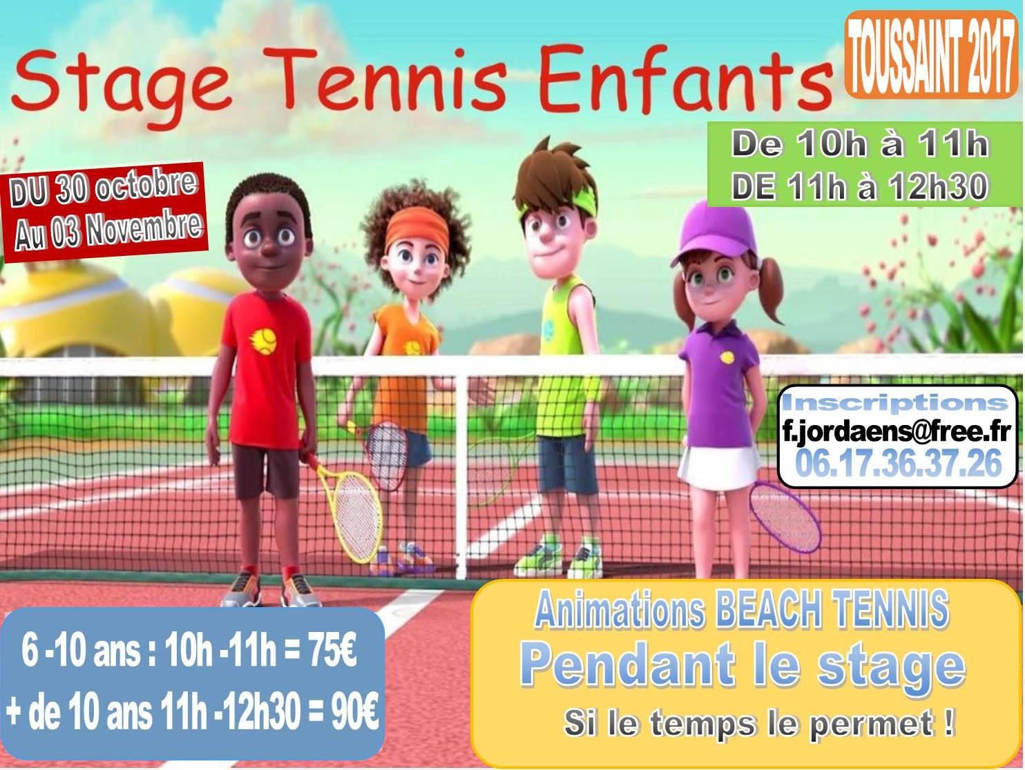 Stages Tennis Animation Beachtennis La Toussaint 2017