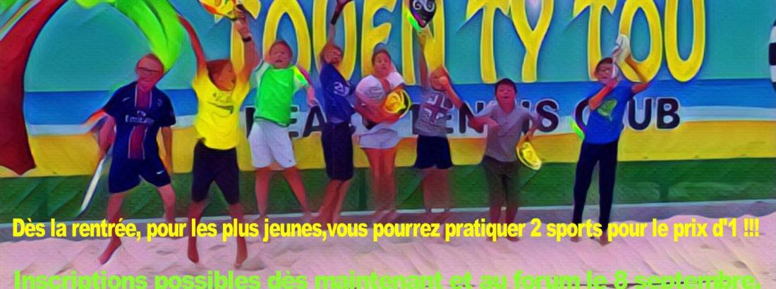 Cours enfants de Beach Tennis