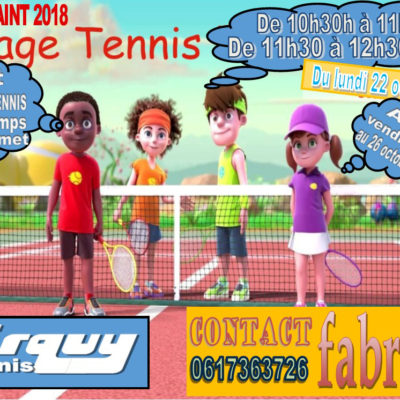 Stage Tennis Toussaint 2018