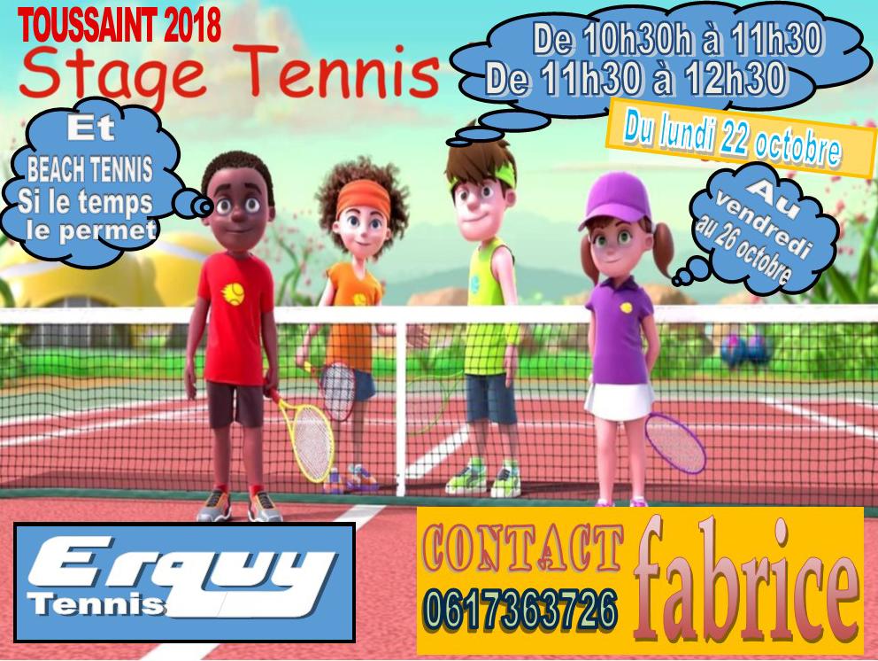 Stage Tennis Toussaint 2018
